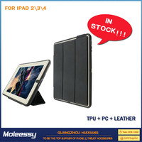 High performance card slot buckle belt cover for ipad 4 case