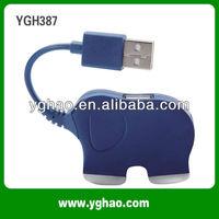 YGH387 elephant 2 port usb mini hub for wholesale