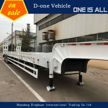 Utility excavators trailers low flat bed trailer with 100 tons low deck trailer for sale