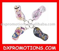 eva slipper keychain/slipper keyring