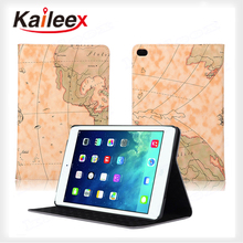 Map Pattern Flip Leather Case For Ipad mini4 Leather Custom Case With Stand