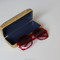 iron glasses case pu leather metal sunglasses case