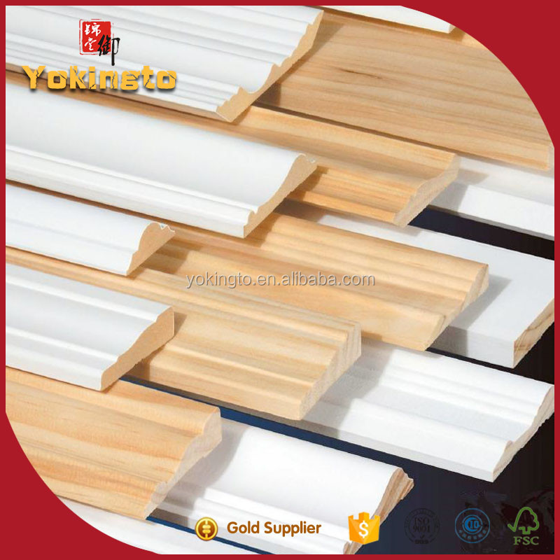 foam fillet wood moulding / wood photo frame / skirting board cover