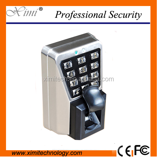 Fingerprint locks with waterproof and dustproof metal finger print and attendance system