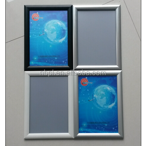 Hot sale Aluminum A4 <strong>frame</strong> sign board with 25mm Mitred corner poster snap <strong>frame</strong>