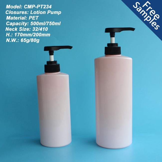 New arrival product 500ml PET bottle for shampoo body lotion packaging