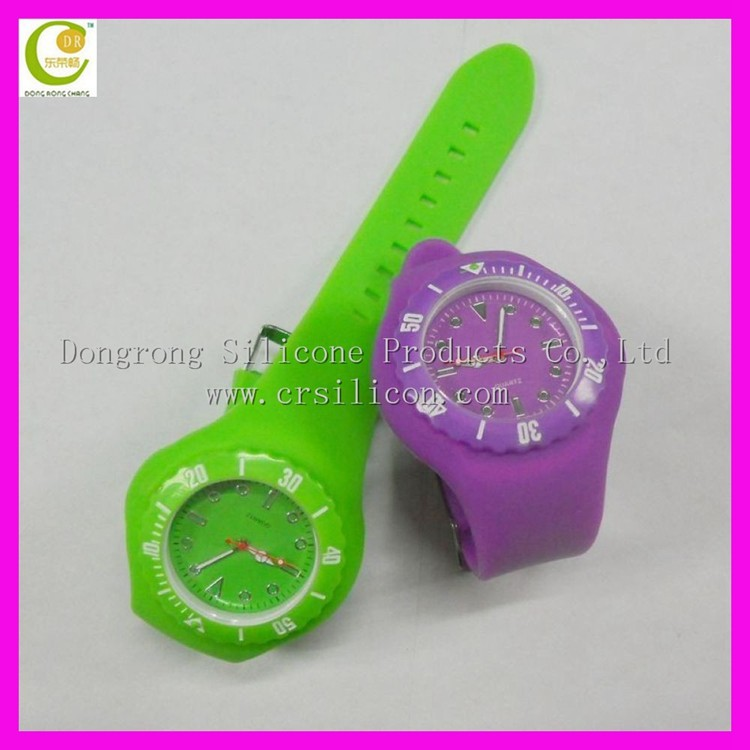 Digital silicone interchangeable slap silicone band watches with FDA And LFGB approved fo kids
