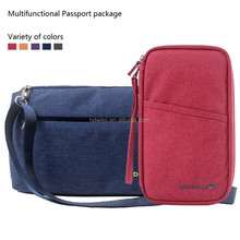 Multi-functional fashion nylon travel passport holder wholesale 7 colors-IN STOCK