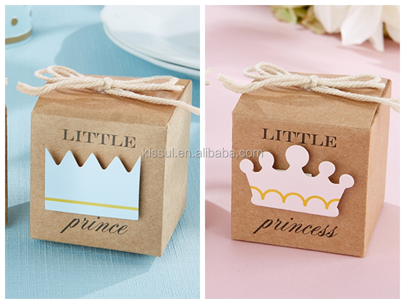 Newborn Baby Gift Ideas Malaysia : Little prince kraft baby shower favor boxes and candy box