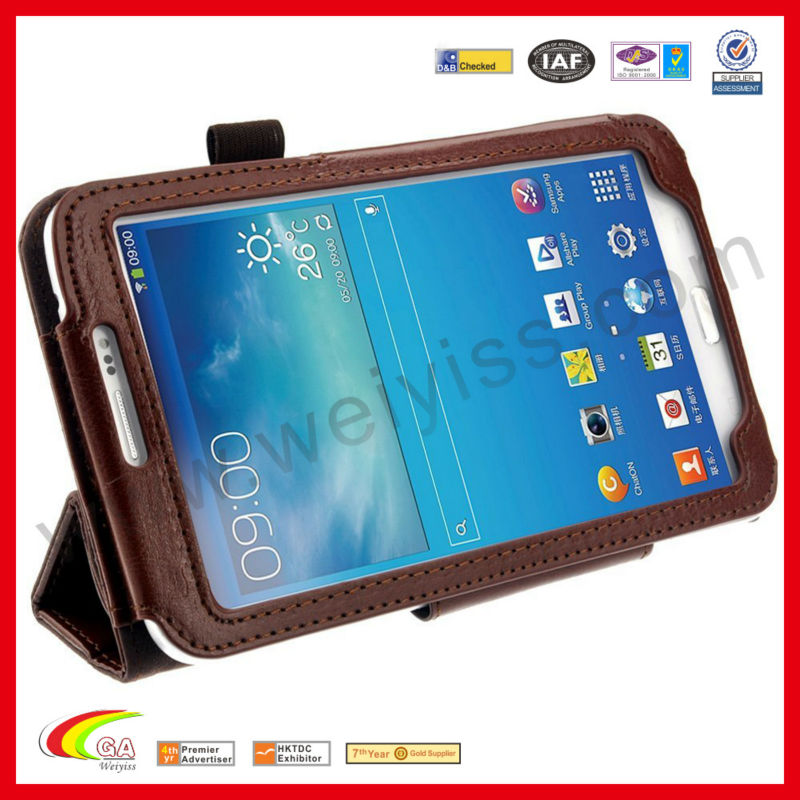 Premium PU leather exterior and microfiber interior cover case for samsung galaxy tab 3 10.1 p5200/p5210