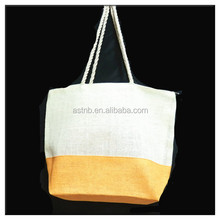 Hot selling high quality Straw Tote Beach Bag / stripe straw beach tote bag