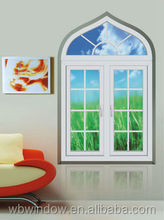 PVC casement windows and arch window design, doulbe hung windows with grill design