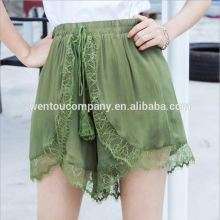 wholesale hot fashion personalised Stitching lace pantskirt