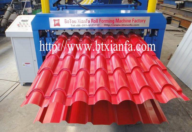 Two Profile Panel Roof Sheet Double Layer Roof Tile Making Machine