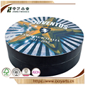BSCI &FSC handmade cheap black round wood gift box with color logo