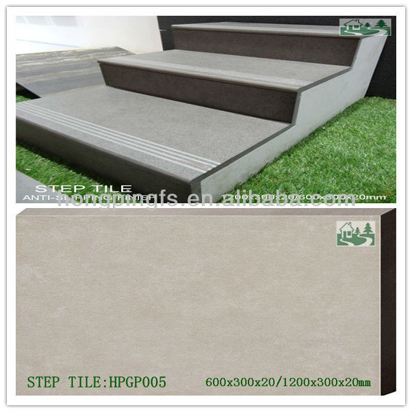 1200x300x20mm 600x300x20mm Full Body Anti Slip Outdoor Ceramic Stair Tiles