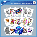 Promotional custom body temporary tattoo paper