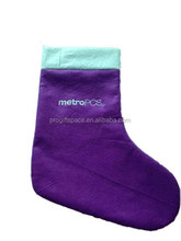 Manufacturer china new products polyester Sacks wool felt Christmas stocking wholesale with embroidered metro for promotion