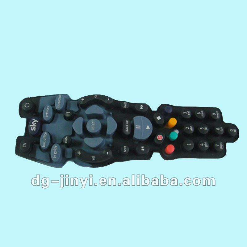 custom made silicone button rubber keypad remote button rubber key pad