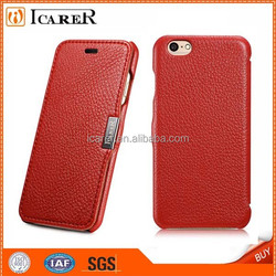 Ultrathin litchi pattern leather case for iphone6