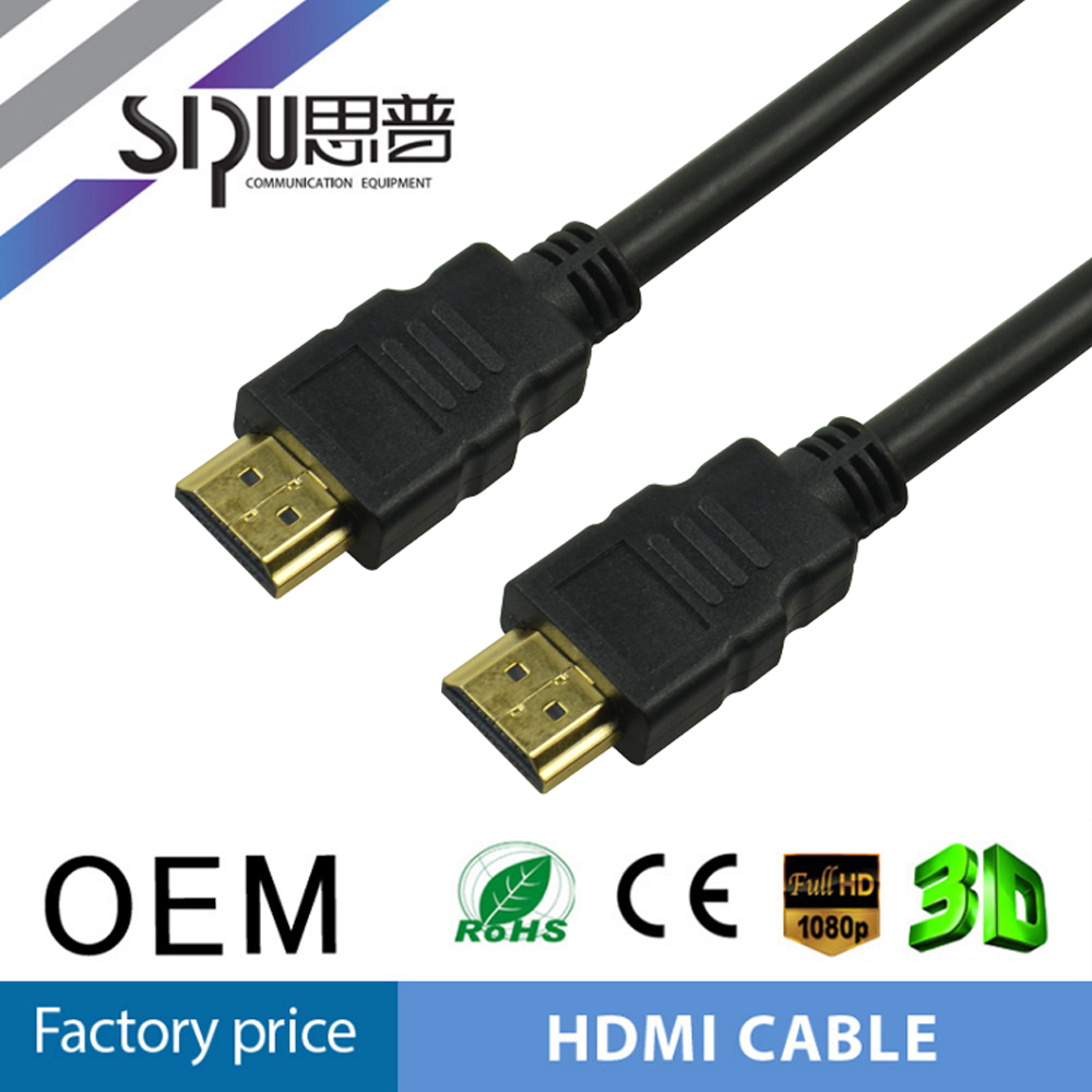 Sipu PVC Injection 19 + 1 HDMI Cable AM to AM Special Flat HDMI High Speed Cable 1.3V 1.4V 2.0V hdmi cable 3d 4k 1080p