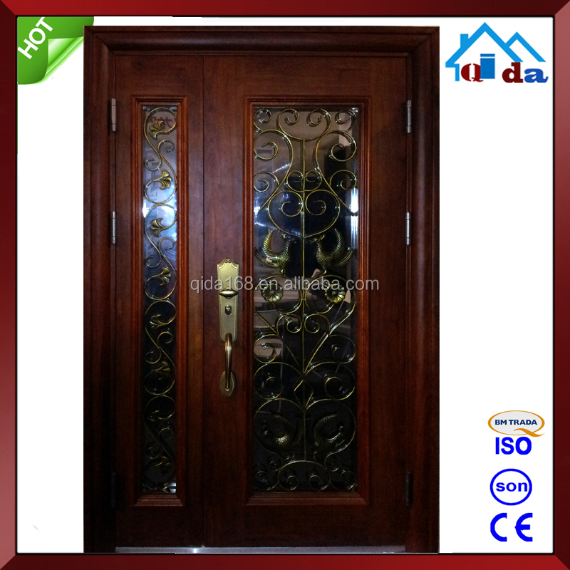 Double Modern Cheap Wrought Iron Door Manufacture