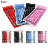 Bluetooth silicone soft keyboard for smartphone laptop tablet pc
