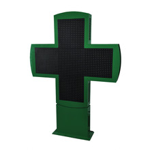 Semi-outdoor led sign LED pharmacy cross with CE