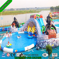 popular series water park fun land with three pools for Children's play and entertainment