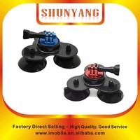 Wholesale Go pro Low Angle Removable GP Light black Car Suction Cup Mount