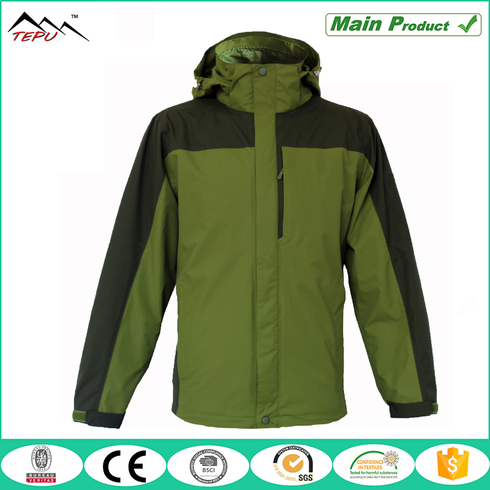 wholesale customized best waterproof 3 in 1 jacket for men