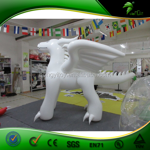 2015 Cheap TPU Giant Party Inflatable Animals / Inflatable White Dragon