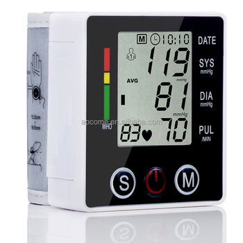 wrist blood pressure monitor and pulse oximeter