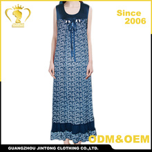 2016 Wholesale women summer plus size cotton stretch dress