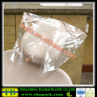 Dental chair disposable plastic headrest cover