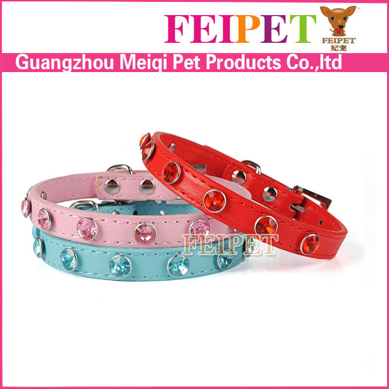 fashion rhiestone rubber dog collar 4 colors available bulk for sale
