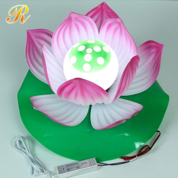 PVC artificial led lotus flowers lamp for living room decoration