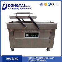 Double Chamber Seafood Vacuum Packing Machine , Vacuum Packing Machine with Computer Control Panel