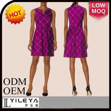 purple elegant ladies office wear dresses dress