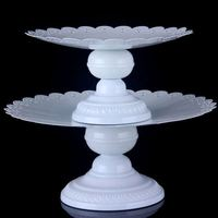 Wholesale prices super quality 2-layer silver plateed cake stand for wedding