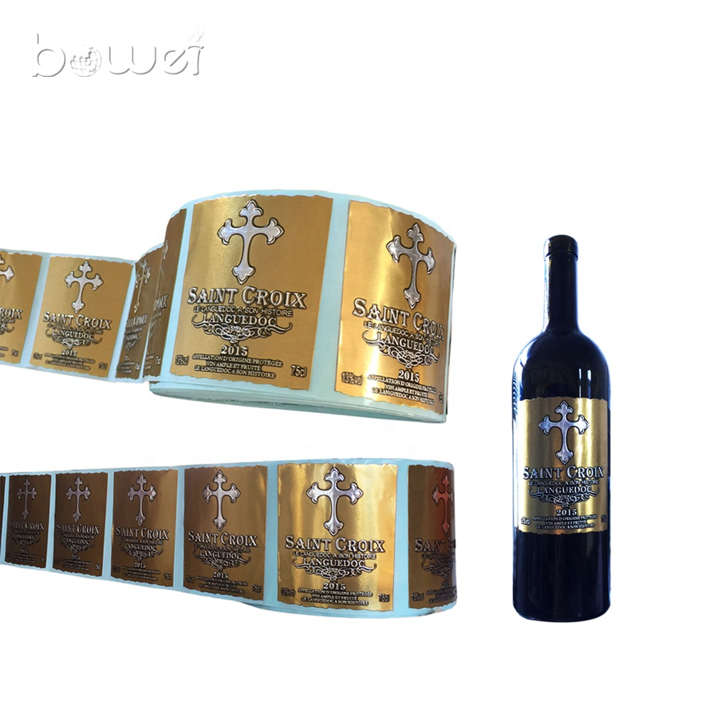 Custom metal wine bottle label for bottle