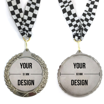 China Custom Design Open Mold Zinc Alloy Metal Medallion for Award Trophy