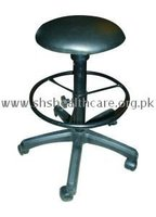 Revolving Stool with Foot Rest, Cushioned Seat