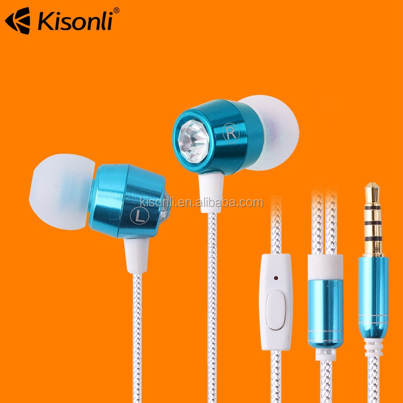 Alibaba Hot Selling Noise Isolating Stereo Metal In-ear Earphone Earbuds with 3.5mm Jack Standard