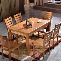Solid Wood Cafe Furntiure Dining Table