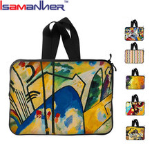 Customized fancy printing carrying laptop sleeve shockproof laptop bag 17