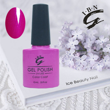 Clear/glitter/pure color offered IBN brand gel nail polish