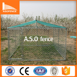 dog kennel outdoor/hot dipped galvanized chain link fence and tube easy install dog cage