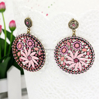 The latest hot sale new fashion earrings with diamond for women