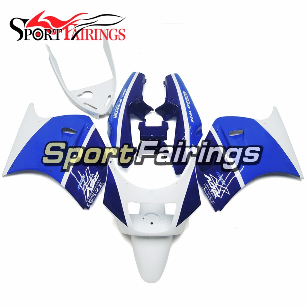 Cowlings White Blue Complete Fairings For Suzuki RGV250 VJ21 Year 1988 1989 ABS Motorcycle Fairing Kits